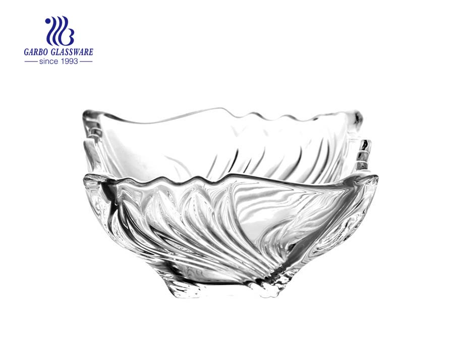 "Decorative 4.13"" Square Crystal Glass Bowl For Home Wedding Party Serving Dessert Salad"