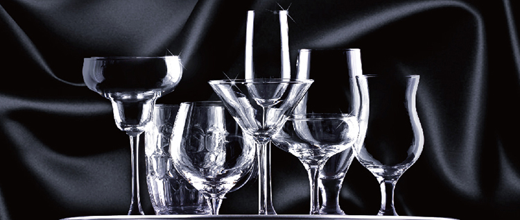 How to distinguish crystal cups from glasses