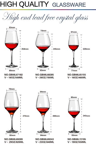 big goblet crystal glass stemware for tableware