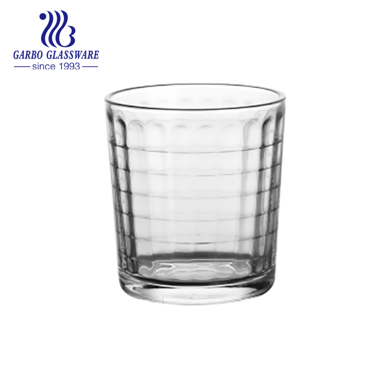 7oz water and juice drinking pressed glass cup