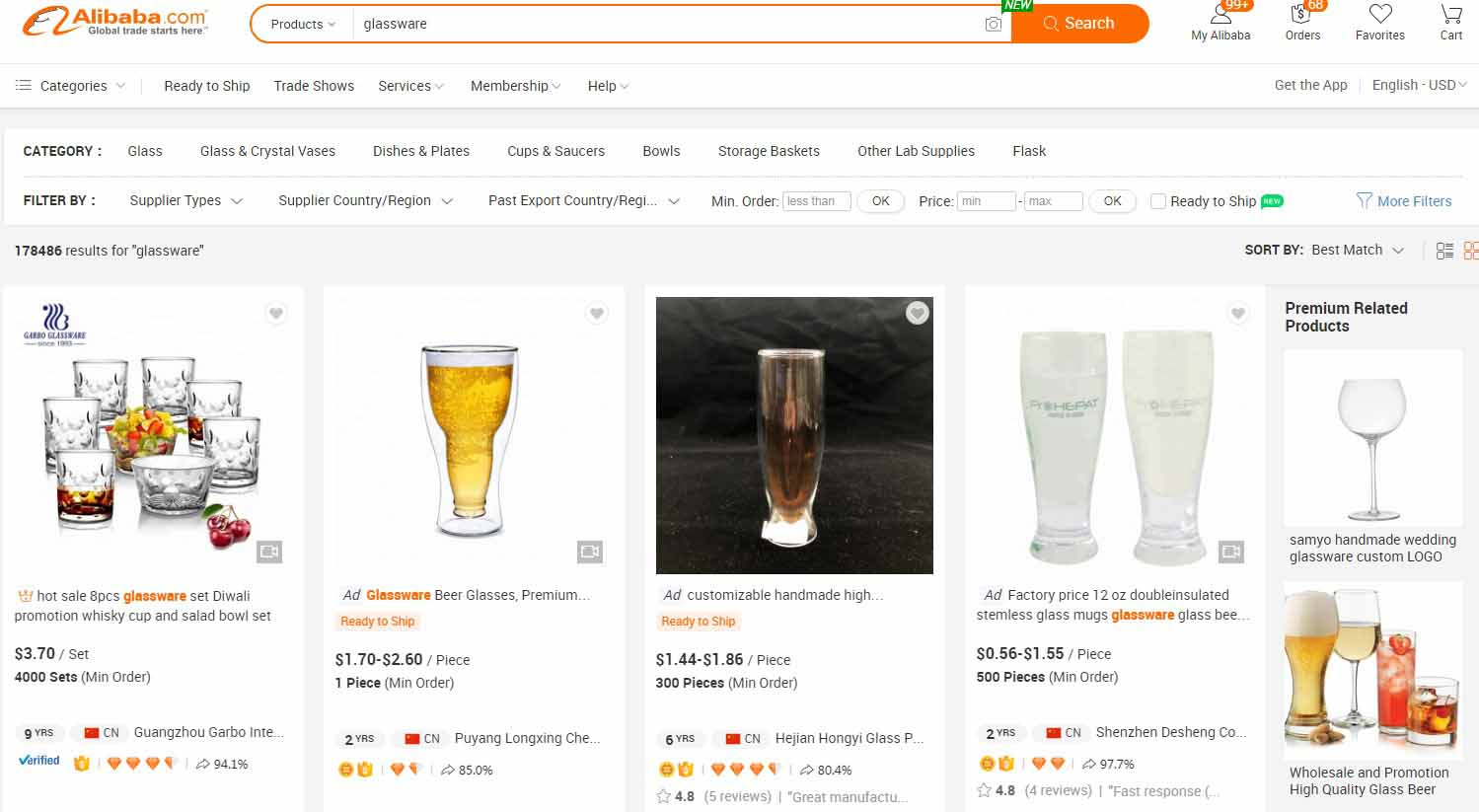 14 Tips on Importing  Wholesale Glassware from Alibaba