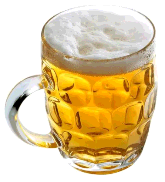 Beer drinking cup