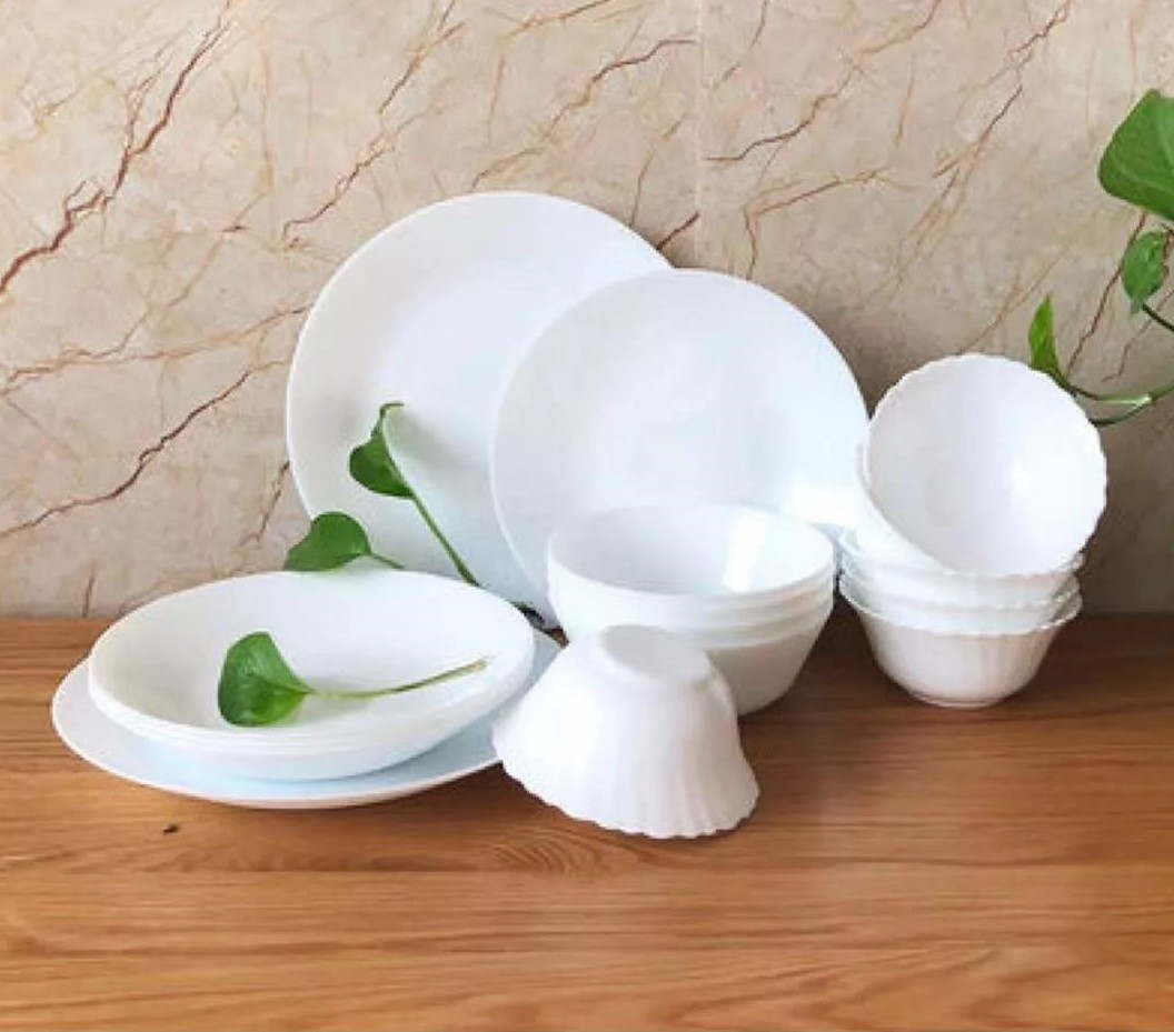 Does your table need a new tableware white opal glass