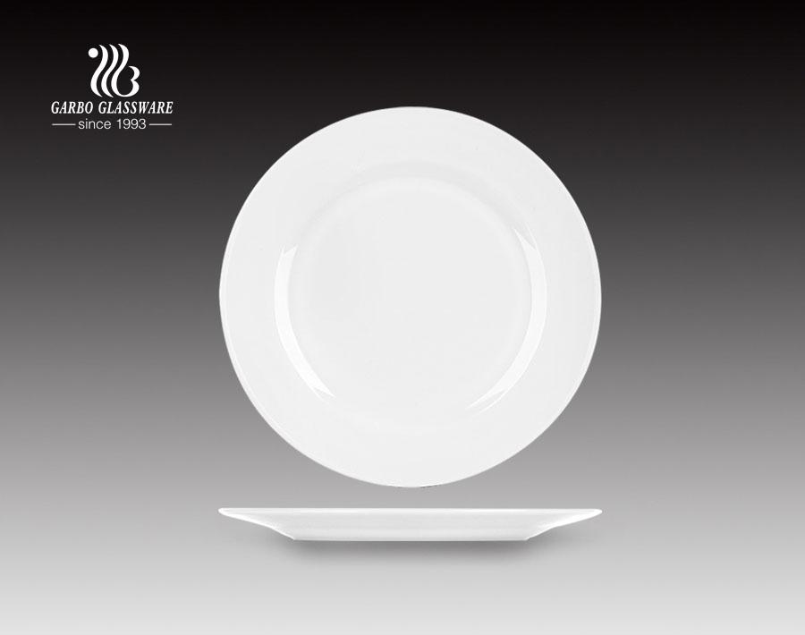 10inch Fancy design popular opal glass dinner plate for restaurant