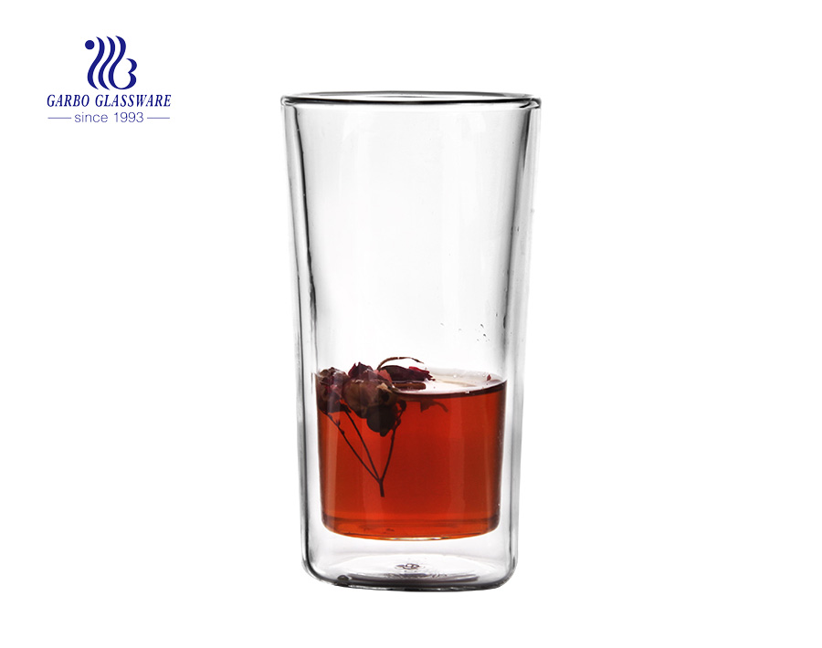 Borosilicate Glassware double wall glass cup