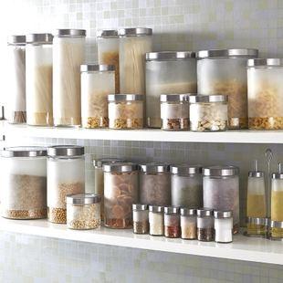 customized glass food storage jars