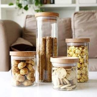customized borosilicate glass food storage jars