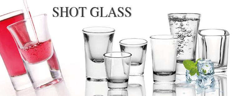 Vaso de chupito transparente popular de 17 ml de alta calidad de vidrio blanco