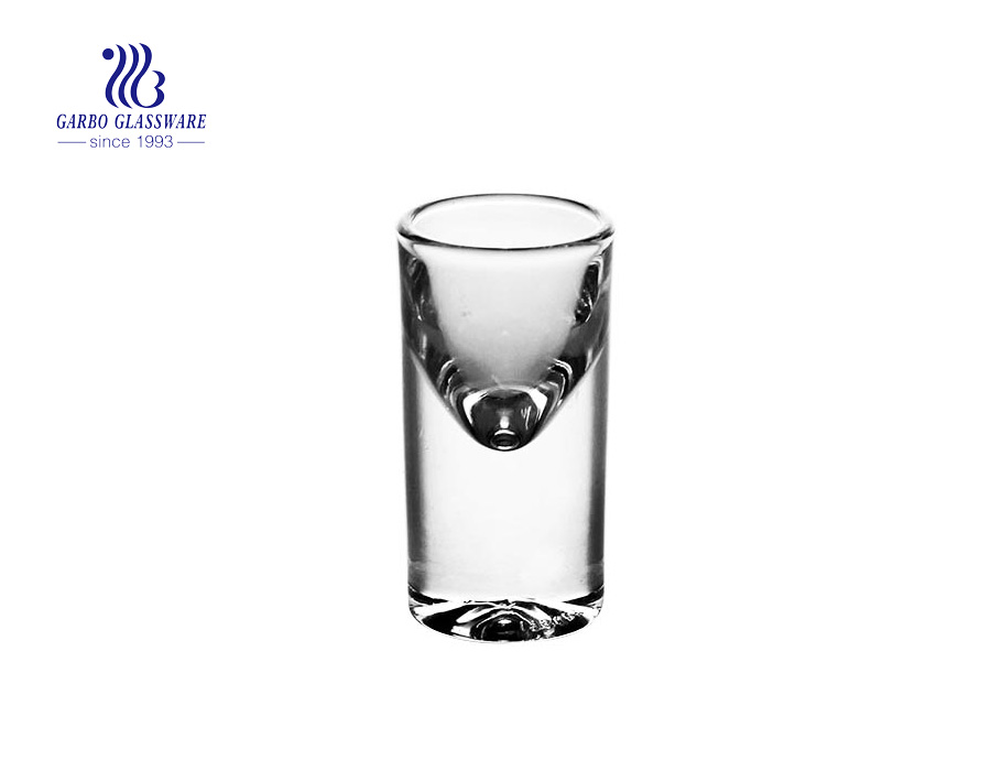 17ml hohe weiße Qualität billiges Schnapsglas beliebte transparente Spiritusglas Tasse