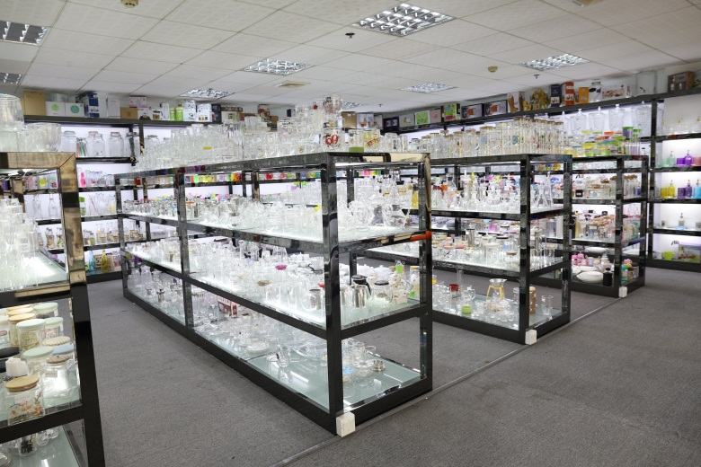 glass bottle, glass storage jars samples