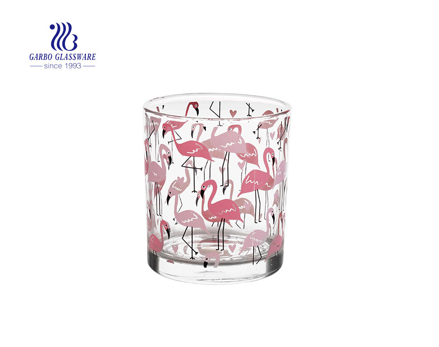 Pink Flamingo Popular Glass Candle Holder