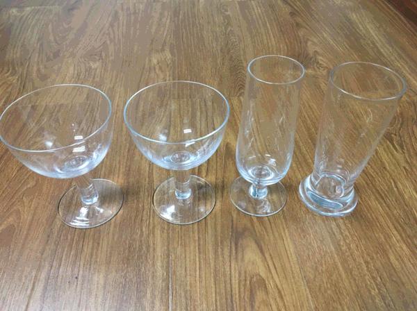 hand made glass stemware