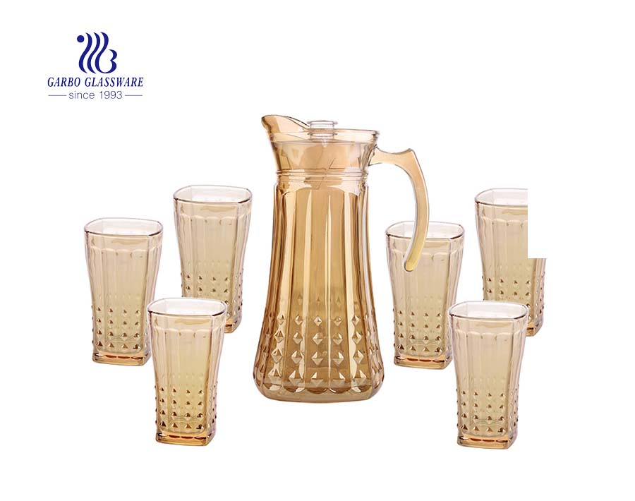 Electroplating glass drinking