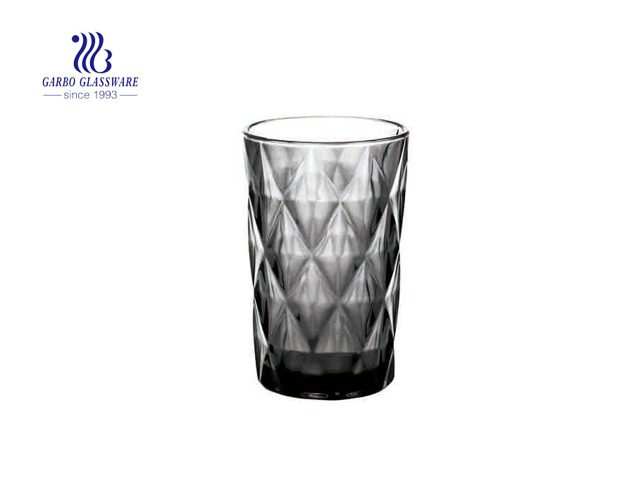 350ml black tea and water drinking solid color glass cup