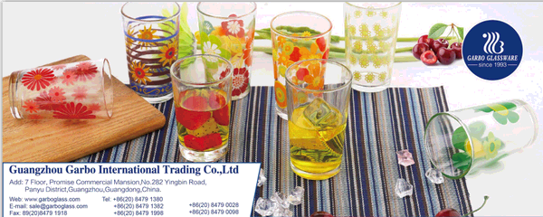Beautiful printing glass cups, which one do you like?