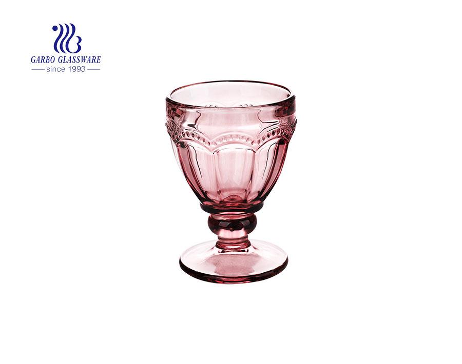 250ml Fancy color unique design solid glass ice cream cup