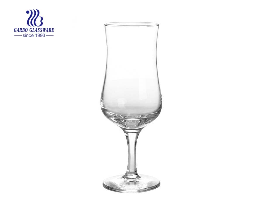 9.5oz 270ml stemless champagne flutes crystal hurricane glass