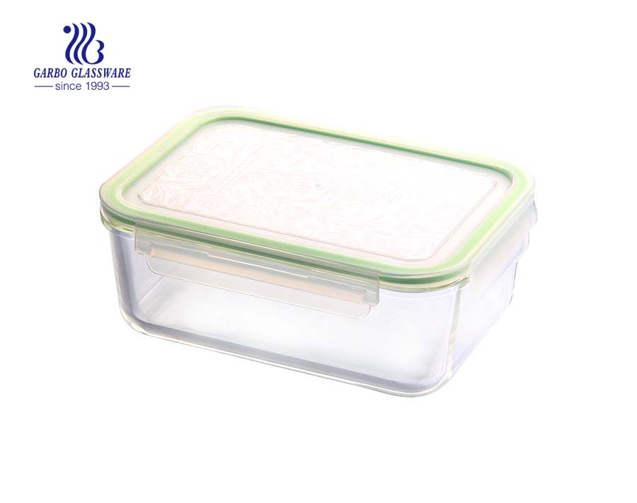 Heat resistant glass food container glass lunch box microwave safe