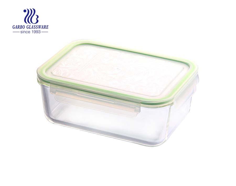 Hitzebeständiges Glas Lebensmittelbehälter Glas Lunchbox mikrowellengeeignet