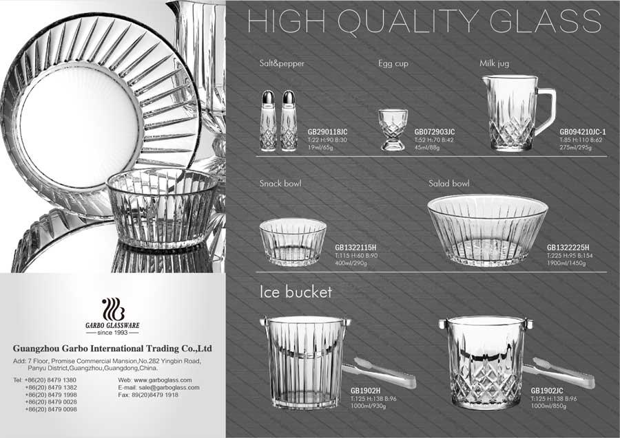 wholesale glass salad bowls