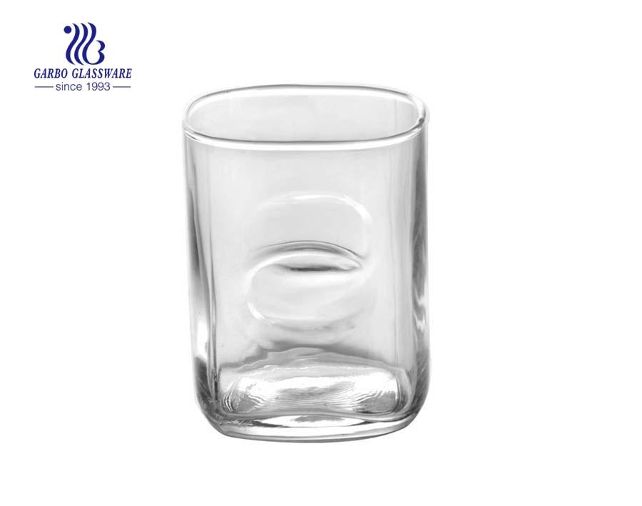 Copo de vidro bebendo da água 8oz de alta qualidade