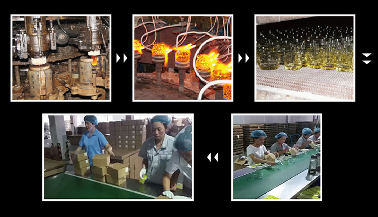 5pcs glass salad bowl production process