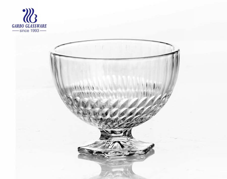 OEM cheap glass dessert bowl for caffe shop