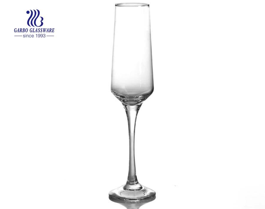 Garrafa de vidro vazia de cristal do vinho da flauta de champanhe 250ml