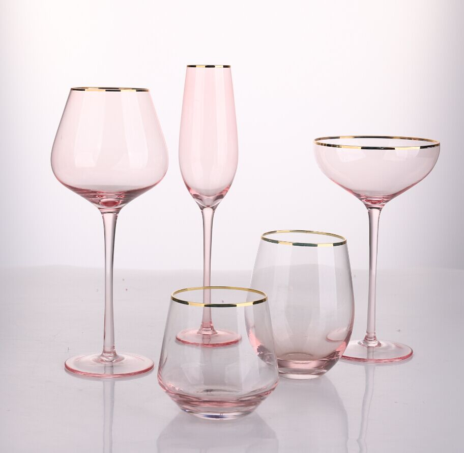 Lovely Pink Wine glass