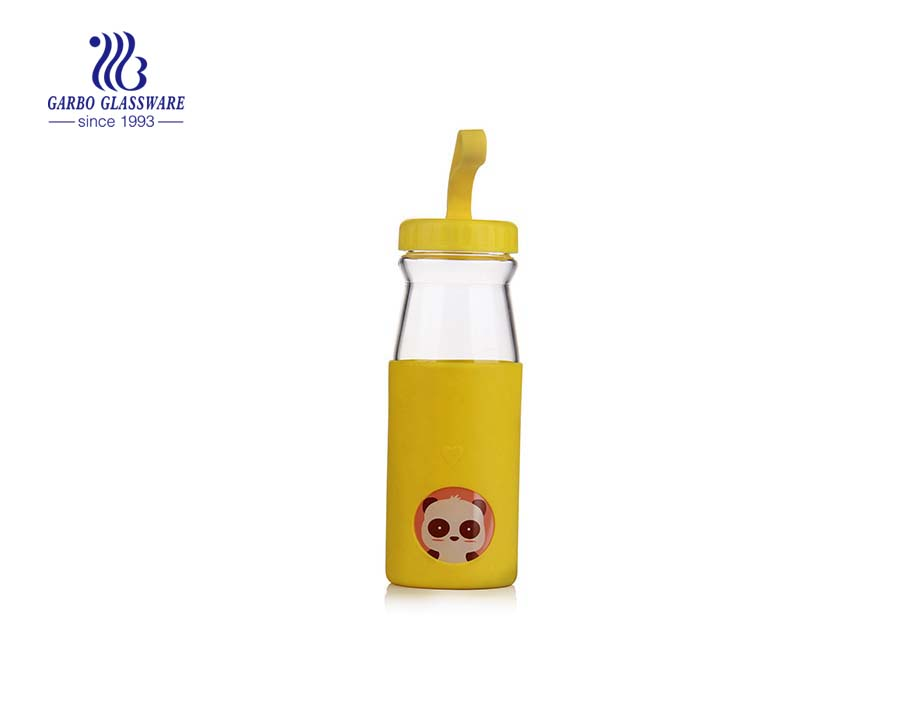 450ML Milk Bottle With Rubber Sleeve