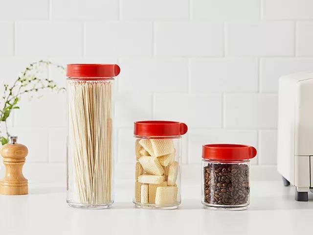 Glass jar for homemade jam and food storage
