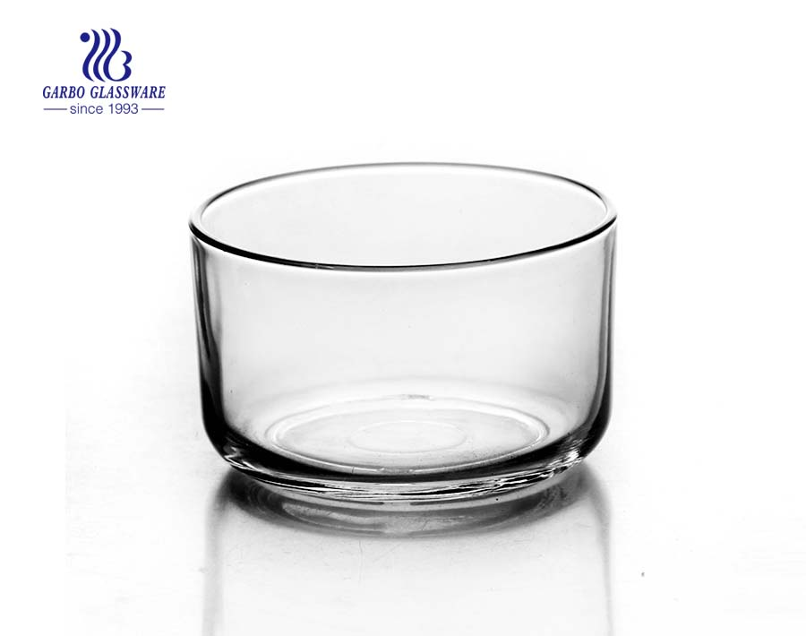 Brief design straight 4.5 inch glass bowl