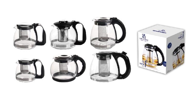 Heat resistant borosilicate boron glass pitcher glass jug glass tea pot China factory