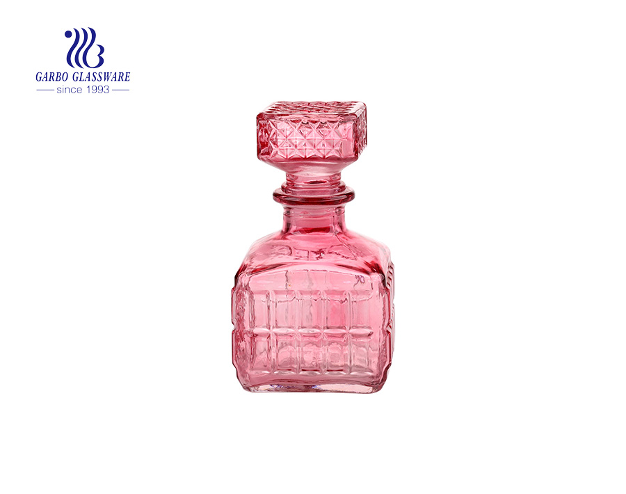 Pink Glass Decanter For Cool  Woman