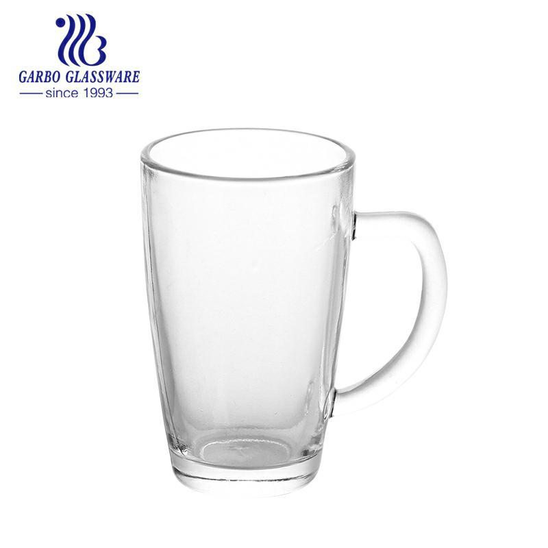 330ml Fancy Shape Glass Tea Mug For Christmas Promotion