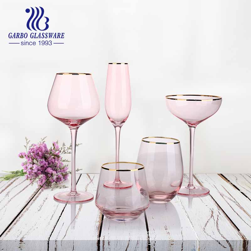 Lovely pink series VS black and cool series glassware
