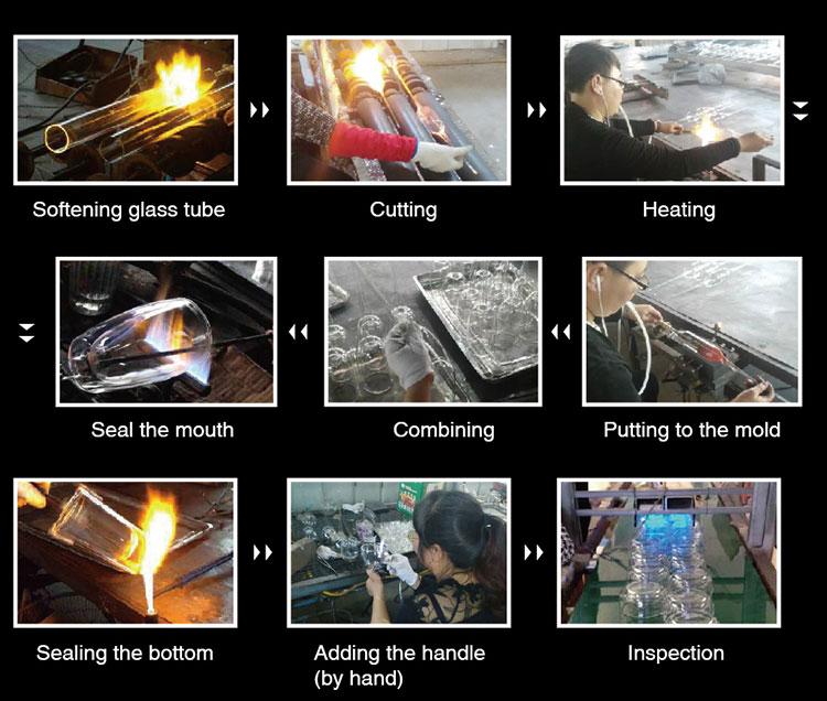 Garrafa resistente ao calor do vidro de borosilicato do logotipo do OEM com tampa de aço inoxidável