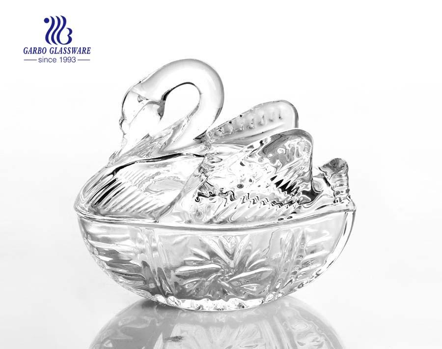 الجرار الزجاجية تصميم جديد للزجاج مع الجرار الحلوى غطاء الجرار الزجاجية