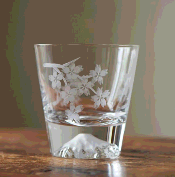 decal drinking glass cup