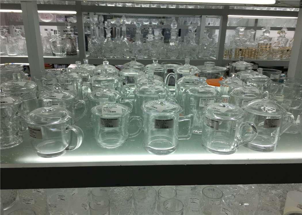 Glass mugs for beer, coffee and tea