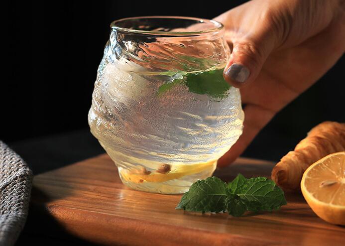 Hammer pattern whisky glass