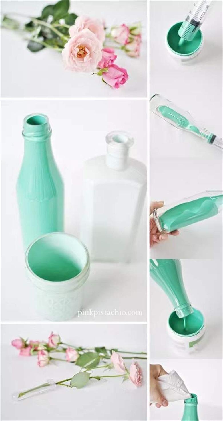 Cách sử dụng chai thủy tinh phế thải