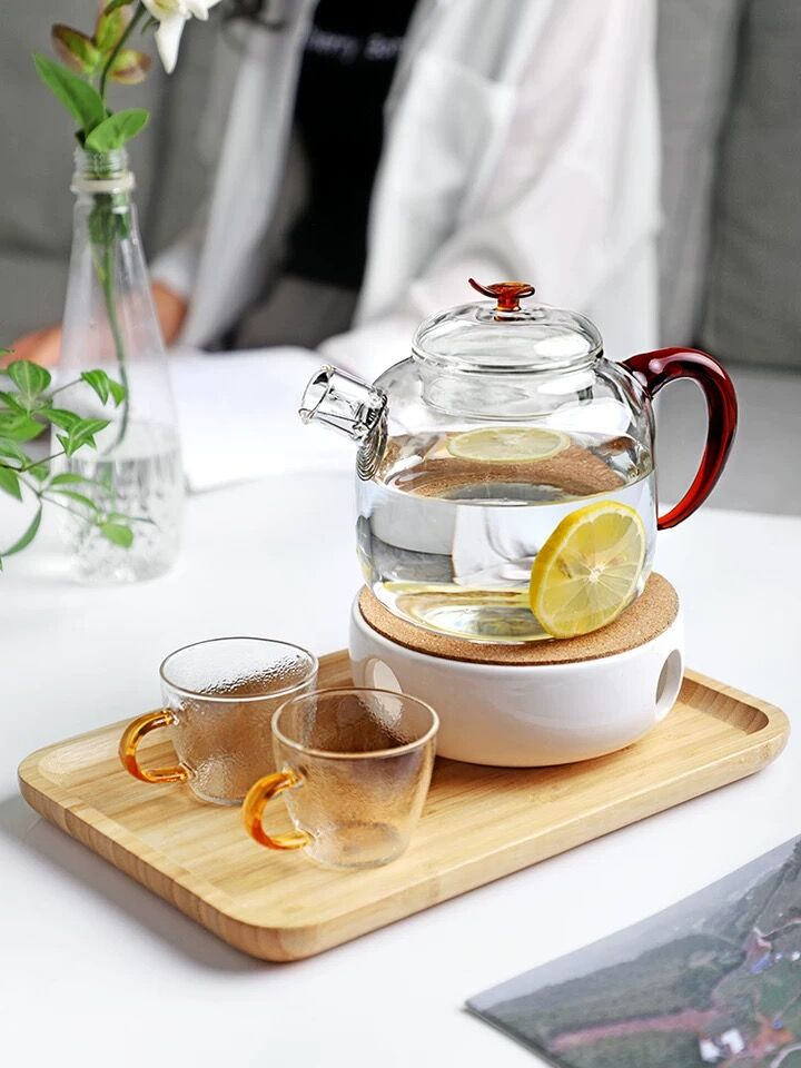 The process of the tea pot that beautiful and heat resistant glass tea pot