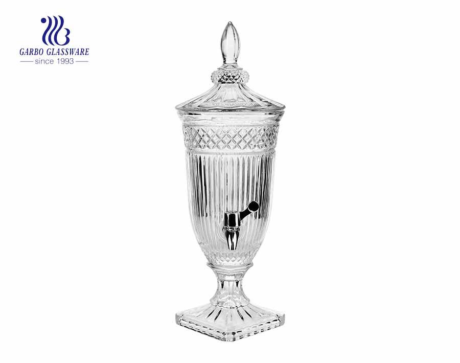 Venta caliente del nuevo diseño 2L y dispensador de vidrio de alta calidad para beber jugo