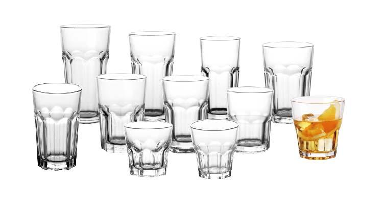 Copo de vidro à moda antiga suco de água rochas copos de vidro