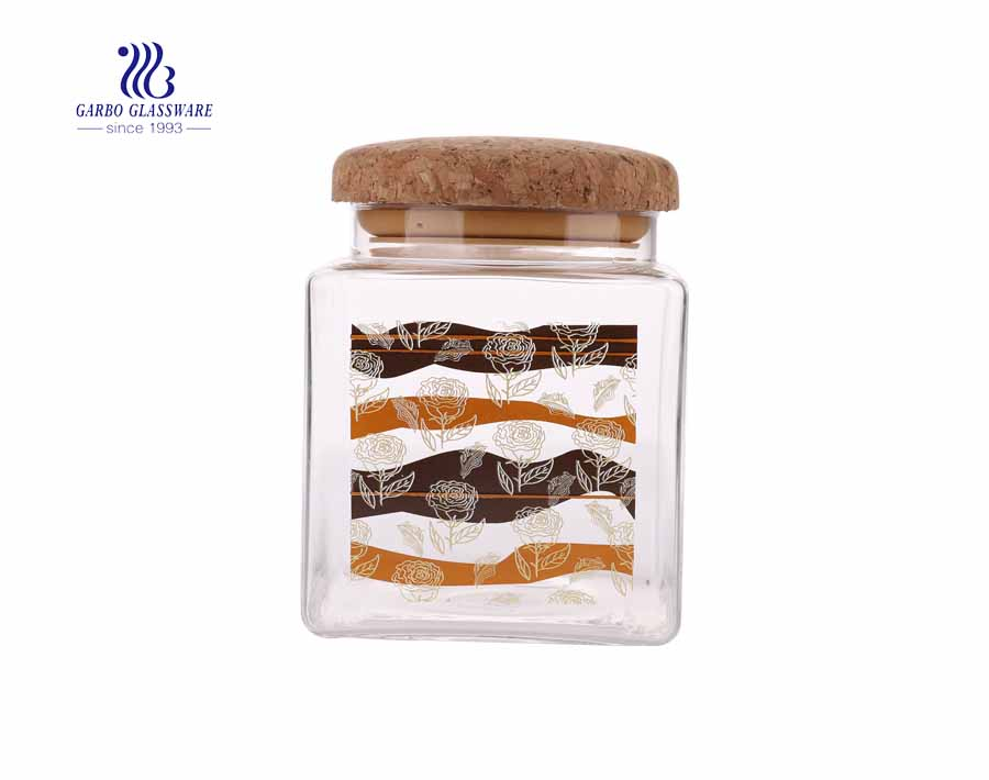 1100ml glass storage jars Heat-resistant glass storage jars