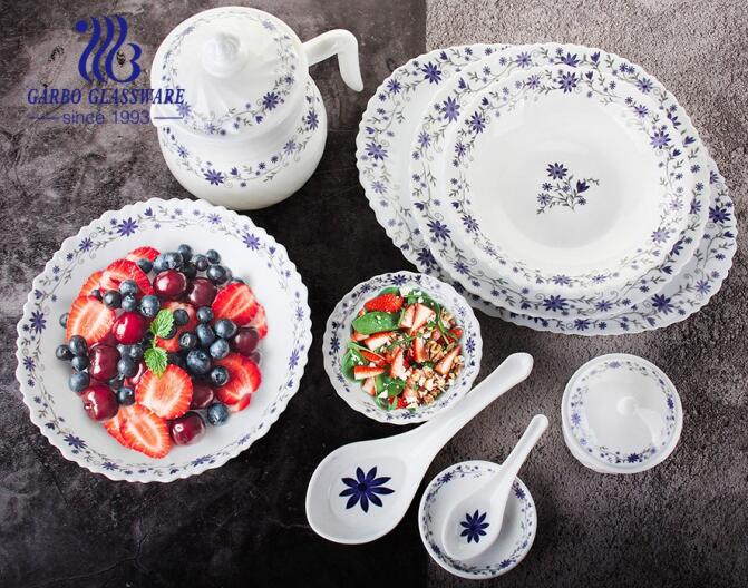 what are the material and advantages of opal glass tableware