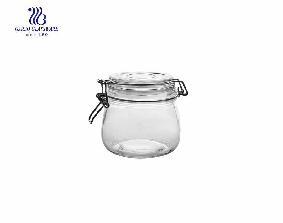 480ml candy food airtight glass storage jar hot sale nuts jar