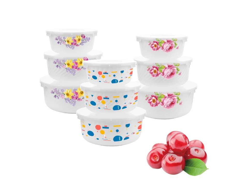 China Good Quality Cheap Color Box Customized 3pcs Opal White Glass Bowl Set