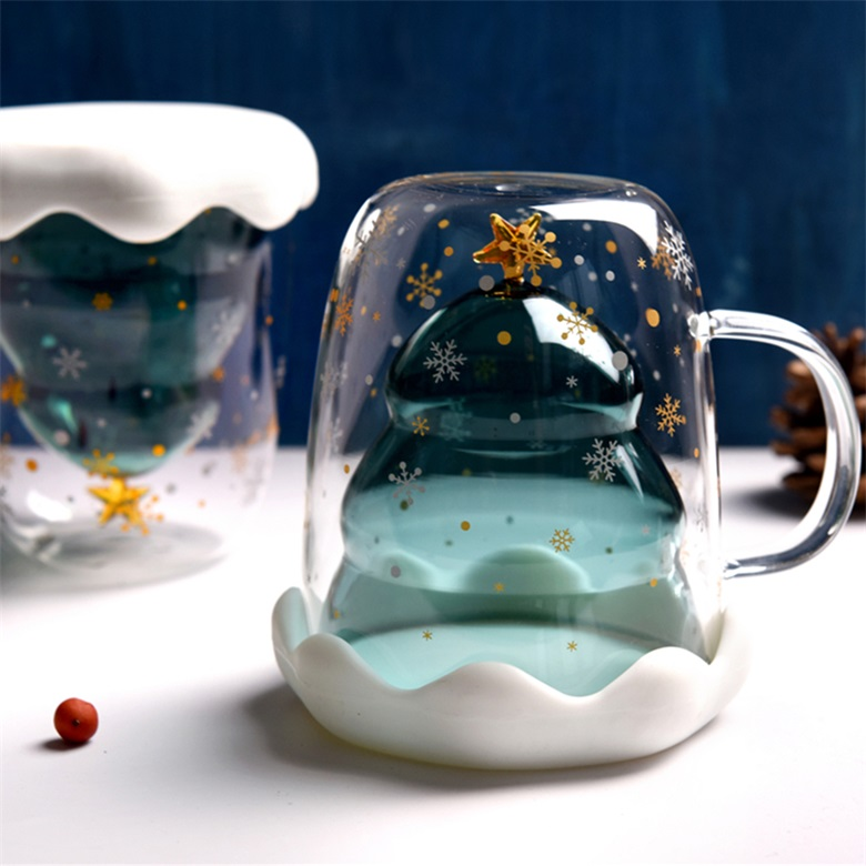 The Internet Celebrity Cute Double Wall Glass Cup
